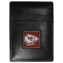 Siskiyou Buckle FCH045 Kansas City Chiefs Leather Money Clip/Cardholder Packaged in Gift Box