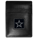 Siskiyou Buckle FCH055 Dallas Cowboys Leather Money Clip/Cardholder Packaged in Gift Box