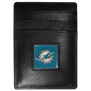 Siskiyou Buckle FCH060 Miami Dolphins Leather Money Clip/Cardholder Packaged in Gift Box