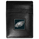 Siskiyou Buckle FCH065 Philadelphia Eagles Leather Money Clip/Cardholder Packaged in Gift Box