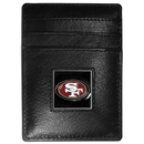 Siskiyou Buckle FCH075 San Francisco 49ers Leather Money Clip/Cardholder Packaged in Gift Box