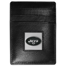 Siskiyou Buckle FCH100 New York Jets Leather Money Clip/Cardholder Packaged in Gift Box
