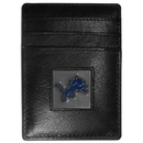 Siskiyou Buckle FCH105 Detroit Lions Leather Money Clip/Cardholder Packaged in Gift Box