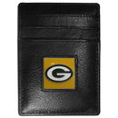 Siskiyou Buckle FCH115 Green Bay Packers Leather Money Clip/Cardholder Packaged in Gift Box