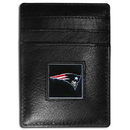 Siskiyou Buckle FCH120 New England Patriots Leather Money Clip/Cardholder Packaged in Gift Box