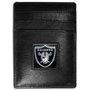 Siskiyou Buckle FCH125 Oakland Raiders Leather Money Clip/Cardholder Packaged in Gift Box