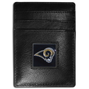 Siskiyou Buckle FCH130 St. Louis Rams Leather Money Clip/Cardholder Packaged in Gift Box