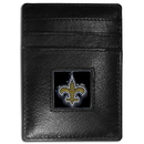 Siskiyou Buckle FCH150 New Orleans Saints Leather Money Clip/Cardholder Packaged in Gift Box