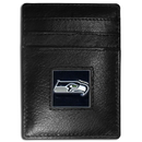 Siskiyou Buckle FCH155 Seattle Seahawks Leather Money Clip/Cardholder Packaged in Gift Box