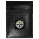 Siskiyou Buckle FCH160 Pittsburgh Steelers Leather Money Clip/Cardholder Packaged in Gift Box