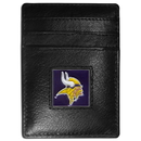 Siskiyou Buckle FCH165 Minnesota Vikings Leather Money Clip/Cardholder Packaged in Gift Box