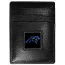 Siskiyou Buckle FCH170 Carolina Panthers Leather Money Clip/Cardholder Packaged in Gift Box