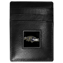 Siskiyou Buckle FCH180 Baltimore Ravens Leather Money Clip/Cardholder Packaged in Gift Box
