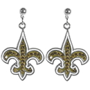 Siskiyou Buckle New Orleans Saints Crystal Stud Earrings, FCSE150