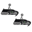 Siskiyou Buckle Seattle Seahawks Crystal Stud Earrings, FCSE155
