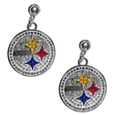 Siskiyou Buckle Pittsburgh Steelers Crystal Stud Earrings, FCSE160