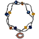 Siskiyou Buckle Chicago Bears Crystal Bead Bracelet, FCYB005