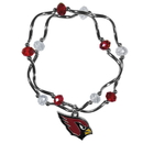 Siskiyou Buckle Arizona Cardinals Crystal Bead Bracelet, FCYB035