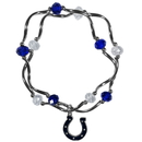 Siskiyou Buckle Indianapolis Colts Crystal Bead Bracelet, FCYB050