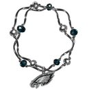 Siskiyou Buckle Philadelphia Eagles Crystal Bead Bracelet, FCYB065