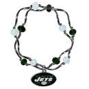 Siskiyou Buckle New York Jets Crystal Bead Bracelet, FCYB100