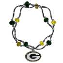 Siskiyou Buckle Green Bay Packers Crystal Bead Bracelet, FCYB115