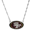 Siskiyou Buckle San Francisco 49ers Crystal Logo Necklace, FCYN075