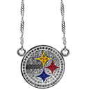 Siskiyou Buckle Pittsburgh Steelers Crystal Logo Necklace, FCYN160
