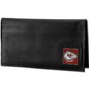 Siskiyou Buckle FDCK045BX Kansas City Chiefs Deluxe Leather Checkbook Cover