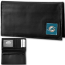 Siskiyou Buckle FDCK060BX Miami Dolphins Deluxe Leather Checkbook Cover