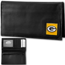 Siskiyou Buckle FDCK115BX Green Bay Packers Deluxe Leather Checkbook Cover