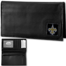 Siskiyou Buckle FDCK150BX New Orleans Saints Deluxe Leather Checkbook Cover