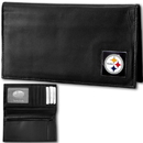 Siskiyou Buckle FDCK160BX Pittsburgh Steelers Deluxe Leather Checkbook Cover