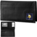Siskiyou Buckle FDCK165BX Minnesota Vikings Deluxe Leather Checkbook Cover