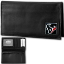 Siskiyou Buckle FDCK190BX Houston Texans Deluxe Leather Checkbook Cover