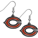 Siskiyou Buckle FDE005N Chicago Bears Chrome Dangle Earrings