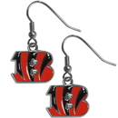 Siskiyou Buckle FDE010N Cincinnati Bengals Chrome Dangle Earrings