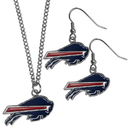Siskiyou Buckle Buffalo Bills Dangle Earrings and Chain Necklace Set, FDE015FN