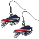 Siskiyou Buckle FDE015N Buffalo Bills Chrome Dangle Earrings