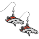 Siskiyou Buckle FDE020N Denver Broncos Chrome Dangle Earrings
