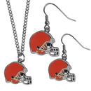 Siskiyou Buckle Cleveland Browns Dangle Earrings and Chain Necklace Set, FDE025FN
