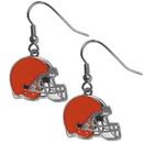 Siskiyou Buckle FDE025N Cleveland Browns Chrome Dangle Earrings