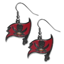 Siskiyou Buckle FDE030N Tampa Bay Buccaneers Chrome Dangle Earrings