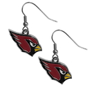 Siskiyou Buckle FDE035N Arizona Cardinals Chrome Dangle Earrings