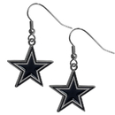 Siskiyou Buckle FDE055N Dallas Cowboys Chrome Dangle Earrings
