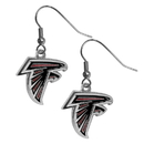 Siskiyou Buckle FDE070N Atlanta Falcons Chrome Dangle Earrings