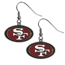 Siskiyou Buckle FDE075N San Francisco 49ers Chrome Dangle Earrings