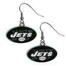 Siskiyou Buckle FDE100N New York Jets Chrome Dangle Earrings