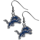 Siskiyou Buckle FDE105N Detroit Lions Chrome Dangle Earrings