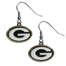Siskiyou Buckle Green Bay Packers Chrome Dangle Earrings, FDE115N